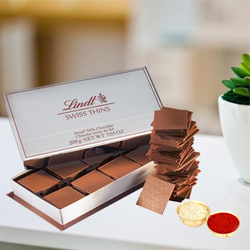 Lindt Swiss Thins with free Roli Tilak and Chawal. to Bangalore