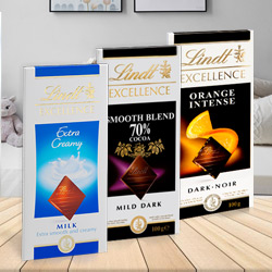 Chocolate Ecstasy with Lindt Bars of Chocolates to Bandikui