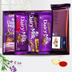 Cadburys Special Assortment Pack with free Roli Tilak and Chawal to Ariyalur
