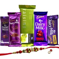 Treat of Chocolates from Cadburys with Rakhi and Roli Tilak Chawal to Cochin