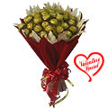 Luscious 16 Pcs Ferrero Rocher Chocolates Bouquet of Love to Udaipur
