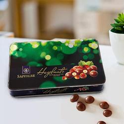 Exquisite Sapphire Hazelnuts Chocolates to India