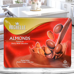 Yummy Vochelle Almond Chocolates to Addanki