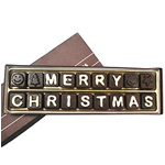 Devilishly Good Merry Christmas Alphabet Chocolate with Aesthetic Allure to Ludhiana