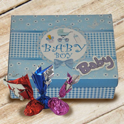 Extraordinary Baby Boy Homemade Chocolate Surprise in a Box to Ludhiana