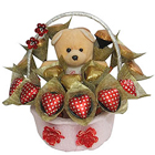 Delightful Chocolates and Teddy in a Basket to Mumbai