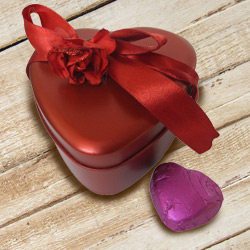 Angelic Heart Shaped Chocolate Gift Box to Ambala