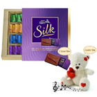 Winsome Teddy with Chocolates Gift Hamper to Bihar