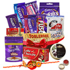 Taste�s Thrill Chocolate Hamper with One Rakhi and Roli Tilak Chawal to Cochin