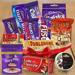 Taste�s Thrill Chocolate Hamper to Barauipur