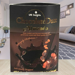 Delectable Date-Almond Chocolates to Hyderabad