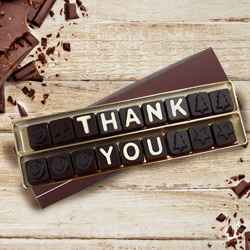 Thank You Homemade Message Chocolate to Baran