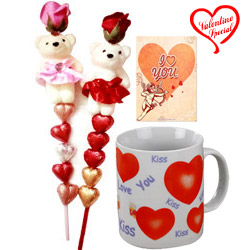 Valentines Day Special Pair of Teddy N Heart Shape... to Behrampur