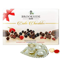Festive Gift Pack of Brookside Dark Chocolates to Baraut