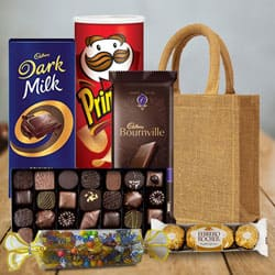 Savory Celebration Chocolates Hamper to Aslali