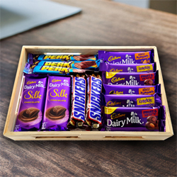 Delightful Assorted Chocolates Gift Hamper to Annur