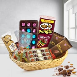 Joyful Chocolates Gift Basket to Barauli