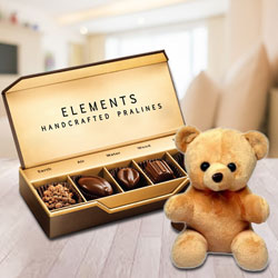 Yummy Element Chocolates from ITC with a Small Teddy to Bakhtiarpur