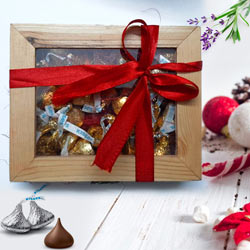 Yummy Hersheys Kisses Wooden Gift Box to Adoni
