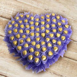 Yummy Heart Shaped Arrangement of Homemade Chocolates to Ahmedgarh