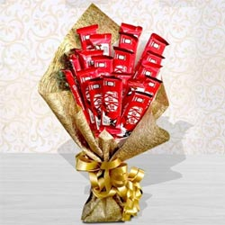 Amazing Bouquet of Kitkat Chocolates to Adugodi