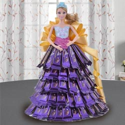 Exquisite Doll with Chocolate Dressing to Ambur