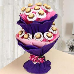 Wonderful Double Tier Ferrero Rocher Chocolate Bouquet to Agroli