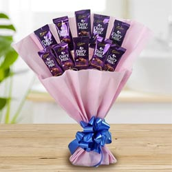 Marvelous Bouquet of Cadbury Dairy Milk Chocolates to Adipur