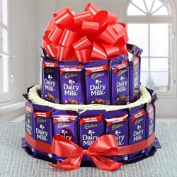 Wonderful 2 Tier Arrangement of Cadbury Dairy Milk Chocolates to Achalpur