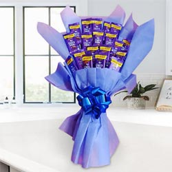 Tasty Cadbury Dairy Milk Chocolates Bouquet to Agra