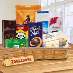 Delectable Chocolate Gift Basket to Bangalore