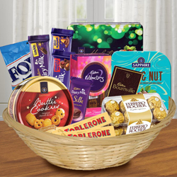 Tasty Chocolates Hamper for Brothers to Adugodi