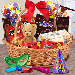Yummy Gift Basket of Chocolates, Teddy N Assortments to Behrampur