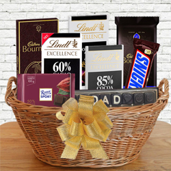 Yummy Gift Basket of Dark Chocolates for Dad to Bhiwani