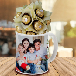 Remarkable Personalized Coffee Mug with Ferrero Rocher to Behrampur