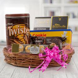 Delectable Chocolate Gift Basket to Adra