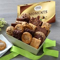 Yummy Brownies with Cookie Mans Assorted Cookies Gift Box to Ahmadnagar
