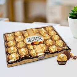Irresistible 24 pcs Ferrero Rocher Chocolates pack to Ludhiana
