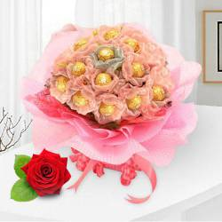 Enchanting Delicacies Ferrero Roacher Chocolate Bouquet to Yamunanagar