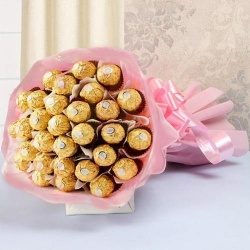 Dignified Love Chocolate Bouquet to Hyderabad