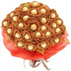 Majestic Love Bouquet of 24 Pcs. Ferrero Roacher Chocolates to Bhimavaram