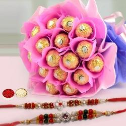 Deep Love Chocolate Bouquet with Free 2 Rakhis and Roli Tilak Chawal to Bhagalpur