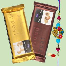 Cadburys Temptations with 1 Regular Rakhi and Roli Tilak Chawal to Bhagalpur