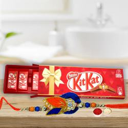 Kitkat Family Pack Chocolate Box (6 bar) with Rakhi to Barauipur