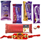 Treat of Chocolates from Cadburys with Rakhi and Roli Tilak Chawal to Bhagalpur
