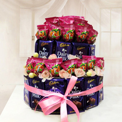 Pleasurable Bliss of Heaven Chocolate Arrangement to Bellary
