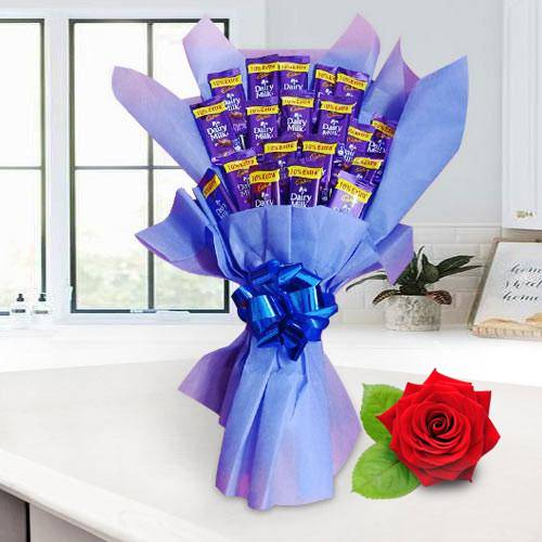 Tasty Cadbury Dairy Milk Chocolate Bouquet to Bolpur