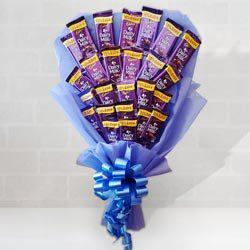 Yummy Bouquet of Cadbury Dairy Milk Chocolates to Agra