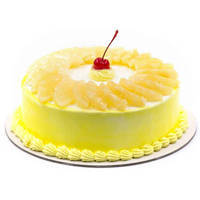 Fluffy Pineapple Cake from Taj or 5 Star Hotel Bakery to Allahabad
