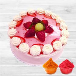 Captivating Strawberry Cake to Ahmedabad